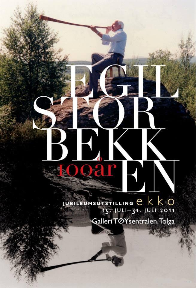 Jubileumsutstilling - vandreutstilling Egil Storbekken 100 år - plakat