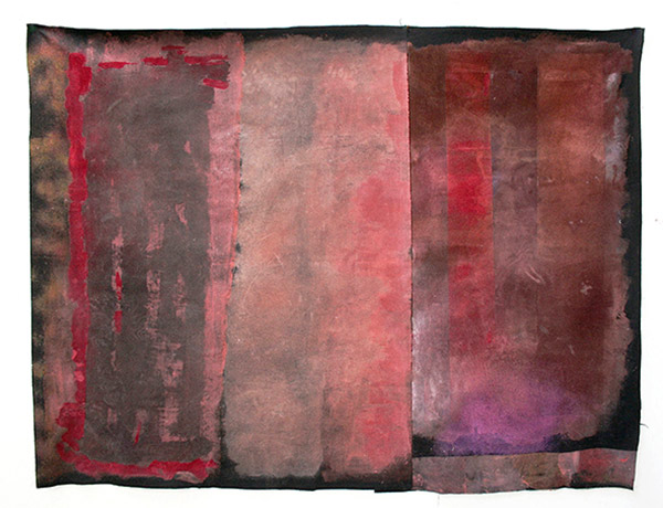 """HANNE ØVERLAND : Tekstil """"Avtrykk i rommet"""", str 147 cm  x 192 cm"""