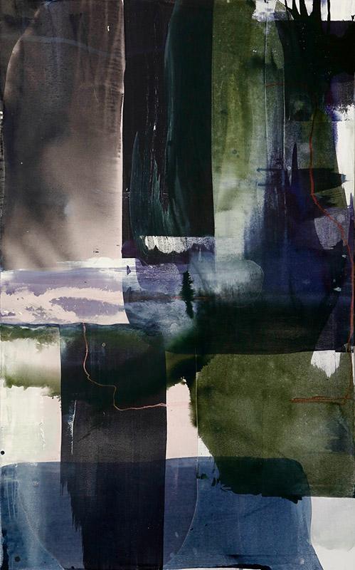 Kari Mette Wik: Akryl, pastel på lerret 160x100